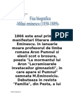 Fisa Biografica Mihai Eminescu