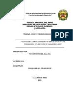 Monografia Causas de La Drogadicción y Su Implicancia en Los Pobladores Del Distrito de Cajamarca 2015