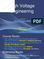 Lecture 1 - Basics of High Voltage Engineering