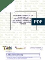 Programa General de Igualdad de Oportunidades y no Discriminación hacia las Mujeres de la Ciudad de México