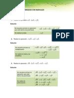Algebra Operaciones Combinadas Con Radicales