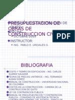 Presupuestacion de Obras de Construccion Civil