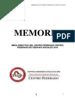 Memoria Final CF Sociales 2010