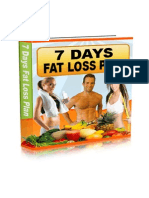 7 Day Rapid Fat Loss Meal Plan