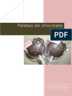 Paletas de Chocolates