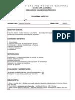 Máquinas Hidráulicas Programa Oficial IPN