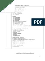 Descriptive Chart of Accounts Model Template