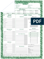 Changeling The Lost Character Sheet