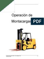 Manual Operación de Grúa Horquilla