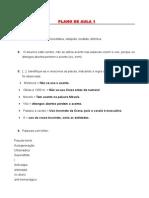 Plano de aula Português instrumental - Plano 1,3,5 e 6