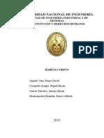 Monografía CDHH Habeas Corpus Presentado