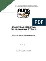 Gramatica Descriptiva Q'eqchi'. Juan Tzoc