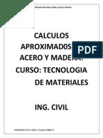 Calculos de Acero y Madera en edificaciones