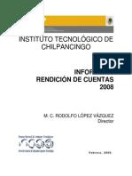 Informe de Rendicion de Cuentas 2008 ITChilpancingo