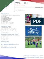 BIFS Newsletter, 2015-10-16 (English)