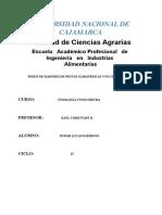 Índice de Madurez de Frutas y Hortalizas Climatéricas y No Climatéricas Trabajo
