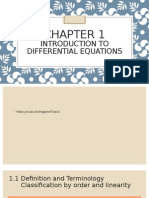 Notes 1.1 Differential Equation