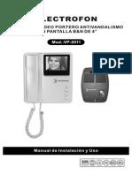 Electrofon - Manual Videoportero VP-2011
