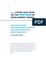Post2015 Agenda
