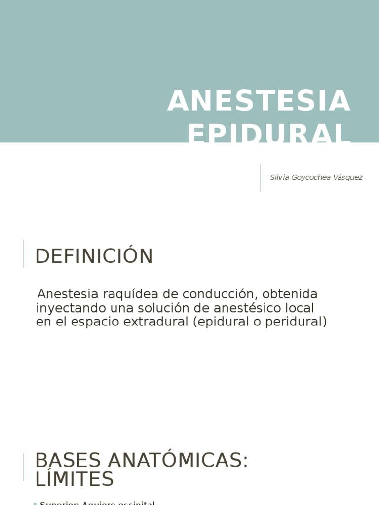 Anestesia Epidural