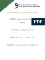 Generalidades de Los Microorganismos
