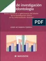 Métodos de Investigación en Odontología - Torrel