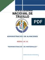 Modulo 01 AdmiADMINISTRACION DE MATERIALES de Materiales