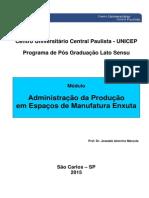 Administração da Produção em Espaços de Manufatura Enxuta