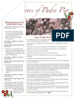 Padre Pio Prayer Sheet