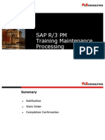 PS SAP PM Maintenance Processing