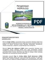 Pengertian Hidrologi