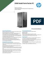 HP Compaq Elite 8300 SFF PC Datasheet Tcm 196 1522518