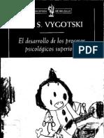 Vygotski, L. (2008). El Desarrollo de Los Procesos Psicologicos Superiores. Barcelona, Critica