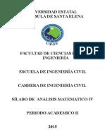Silabo Analisis Matematico IV Octubre2015-Febrero2016