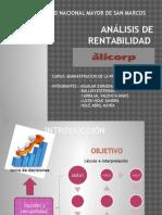 Análisis de Rentabilidad -Alicorp