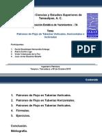 Patrones de Flujo de Tuberías Verticales, Horizontales e Inclinadas