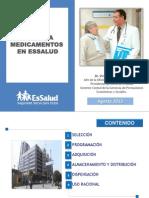 Acceso a Medicamentos en Essalud Agosto 2013