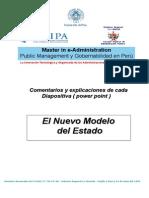 Comentario y Explicacion El Nuevo Modelo Organizativo Del Estado[1]
