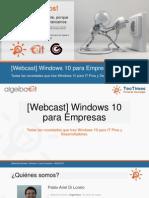 Windows 10 Para Empresas (Sesión 2 de 2)
