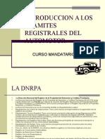 Tramites Registrales Del Automotoramites para registro automotor