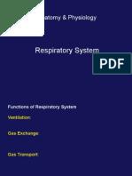 Anatomi & Fisiologi Sistem Respirasi