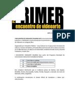 Ganadores y Seleccionados - 1er Encuentro Videoarte Palmira 2015