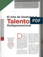 El Arte de Gestionar El Talento Multigeneracional