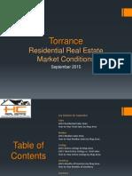 Torrance Real Estate Market Conditions - September 2015