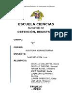 OBTENCIÓN, REGISTRO Y VALIDACIÓN DE INFORMACIÓN
