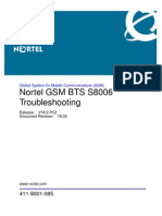 GSM BTS S8006 Troubleshooting