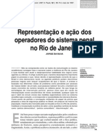 Representação e ação dos operadores do sistema penal no rio de janeiro.