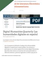 Digital Humanities Quarterly - Las humanidades digitales en español _ Red de Literatura Electrónica Latinoamericana