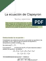 La Ecuación de Clapeyron