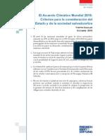 El Acuerdo Mundial 2015 Criterios para la consideracion del Estado salvadoreño- YAguilar 2015